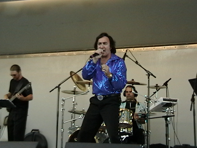 Tom Sadge performs frequently as  Neil Diamond at the Harwinton Lions Club Concert for Sight.